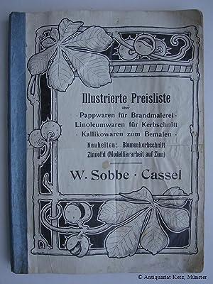 Illustrierte Preisliste über Pappwaren für Brandmalerei, Linoleumwaren: Sobbe, W. -