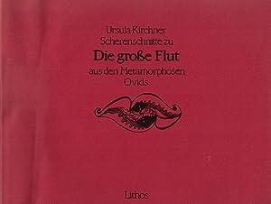 Scherenschnitte zu 'Die große Flut' aus den Metamorphosen Ovids. Der Text wurde von Hermann ...