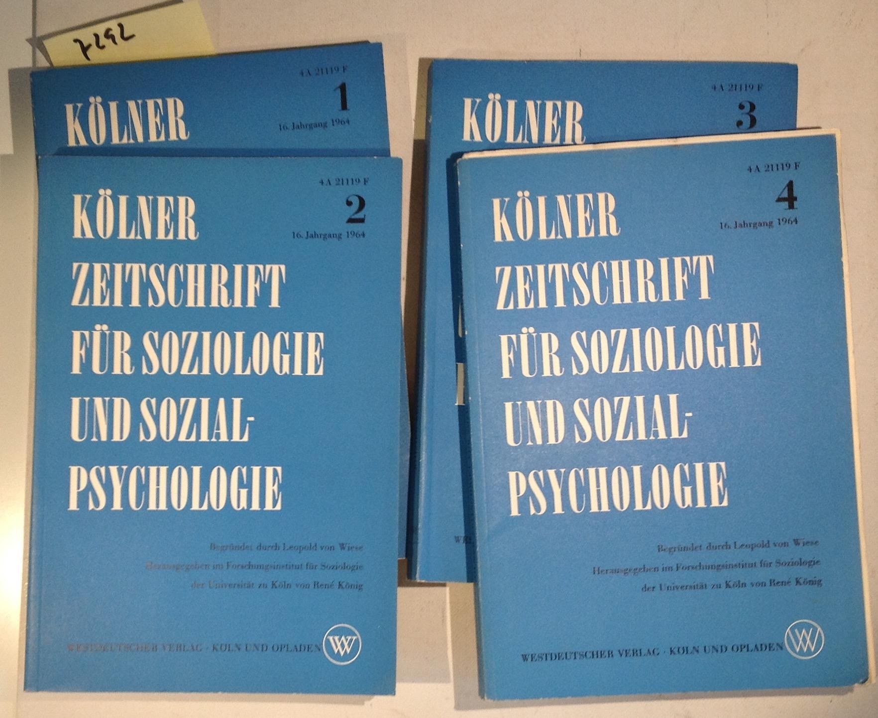 kölner zeitschrift für soziologie und sozialpsychologie