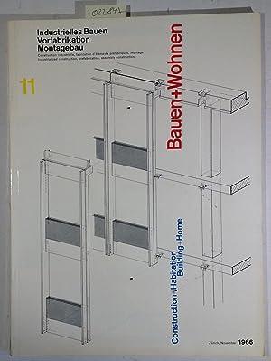 Bauen+Wohnen / Building+Home / Construction+Habitation November 1966: Pfau, Adolf -