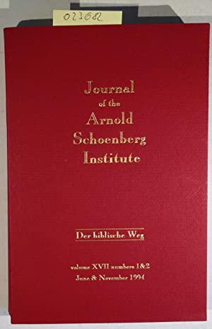 Journal of the Arnold Schoenberg Institute Volume: Zukofsky, Paul -