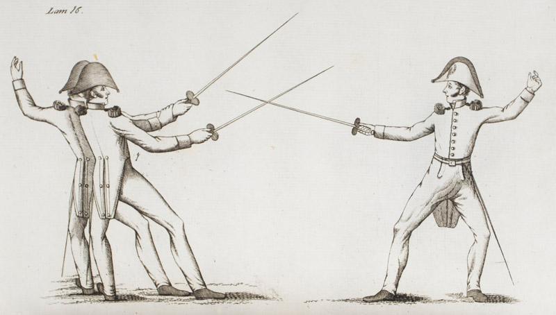 Tratado de esgrima a pie y caballo en que se enseña por principios el manejo del florete, o ...