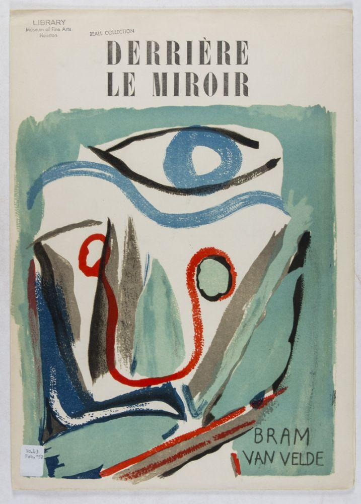 Derri re le miroir no 43 fevrier 1952 bram van velde by for Derriere le miroir