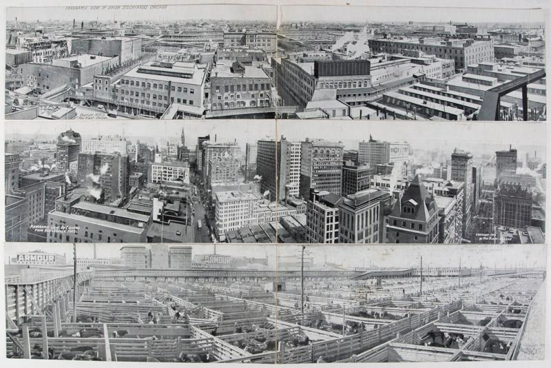 Collection of six panorama photo post cards of Chicago: Rigot, Max