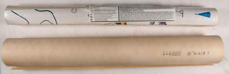 """Xart Walls"" 1972. Xartwalls Marburg WITH Two Rolls of Original Wallpaper (catalog designs)..."