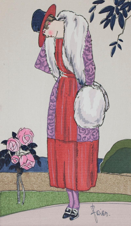 La Mode par Fried. No. 1, 2, 3, 6, 7 [WITH POCHOIR PLATES]: Fried, A. (Illustrations by); Javotte (...