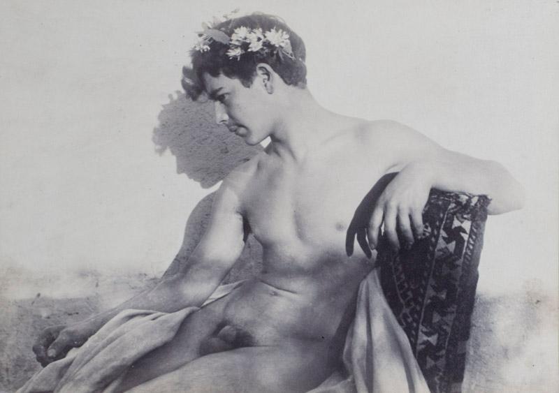 Original Nude Male Photograph by Wilhelm von Gloeden: Gloeden, Baron Wilhelm von