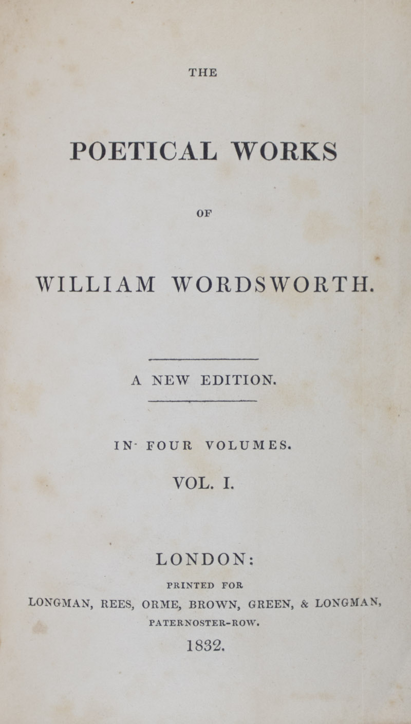 the life and works of william wordsworth The new grant will allow the wordsworth trust, that works to preserve the old inn,  to enable a more in-depth study of the beloved writer's life.