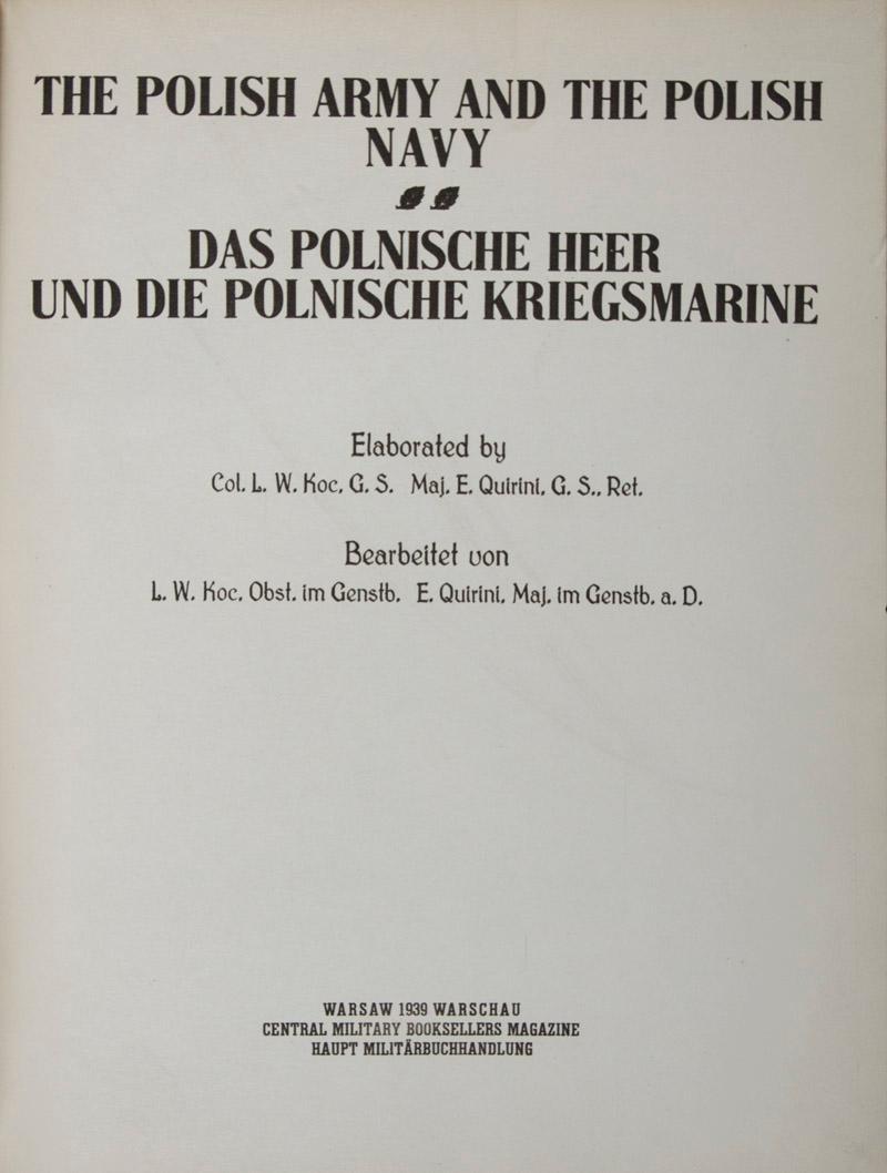 The Polish Army And The Polish Navy Das Polnische Heer Und Die