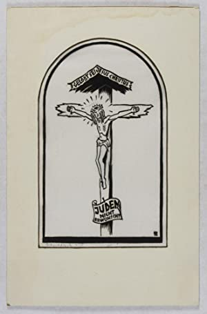 Gelobt sei Jesus Christus [ANTI-NAZI WOODCUT]: n/a