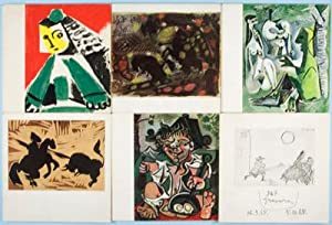 6 Picasso Exhibition catalogues. Galerie Louise Leiris: n/a