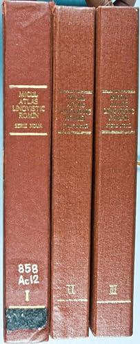 Micul Atlast Lingvistic Romîn. Serie Noua (3 Volumes): Petrovici, Emil and Ioan Patrut