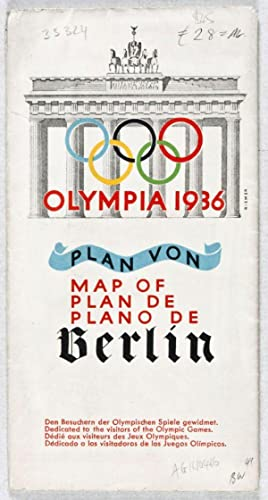 Olympia 1936: Plan von Berlin (Map of/Plan de/Plano de): Dresdner Bank