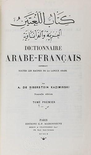 Dictionnaire Arabe-Français Contenant Toutes les Racines de la Langue Arabe. 2-vol. set (...
