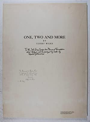 One, Two And More [SIGNED & INSCRIBED BY ARTIST]: Wilke, Ulfert