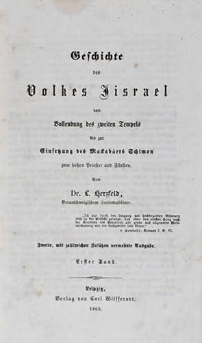 Geschichte des Volkes Jisrael von Vollendung des zweiten Tempels bis zur Einsetzung des Mackab&auml...