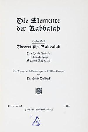Die Elemente der Kabbalah: Bischoff, Erich