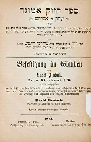 Befestigung im Glauben: Rabbi Jizchak; David Deutsch
