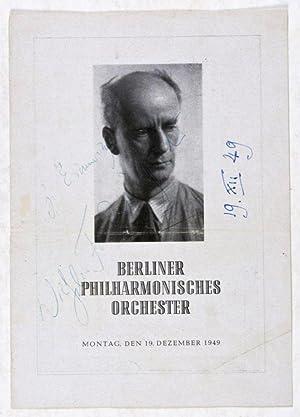 Wilhelm Furtwängler [SIGNED]: n/a
