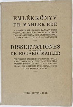 Jubilee Volume in Honour of Edward Mahler: n/a