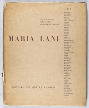 Maria Lani: Cocteau, Jean; Mac Ramo; Waldemar George