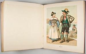 Deutsche Volkstrachten. Original-Zeichnungen mit erklärendem Text von Albert Kretschmer: ...