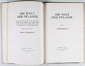 Die Welt der Pflanze. Band II: Crassula: Fuhrmann, Ernst (ed.); Renger-Patzsch, Albert (photogr.)