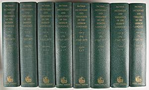 A Complete Dictionary of Ancient and Modern Hebrew. 8-vol. set (Complete): Ben Yehuda, Eliezer
