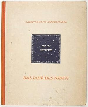 Das Jahr des Juden. Zwölf Gedichte zu zwölf Radierungen [with ORIGINAL WOODCUT]: Budko, ...