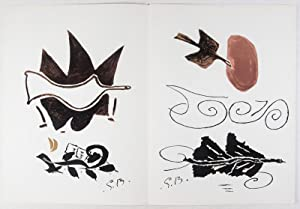 Derriere Le Miroir, No. 85-86, Avril-Mai 1956. (Georges Braque): Braque, Georges (Illustrated by); ...
