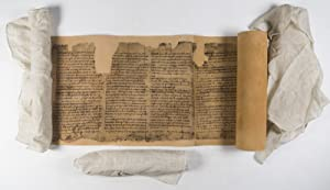The Dead Sea Scrolls: Reproduction made from the original scrolls kept in the Shrine of the Book, ...