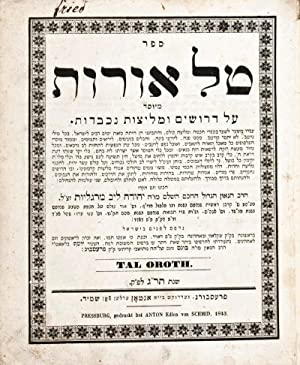 Sefer Tal Orot: Meyusad al Derushim U-Melitsot: Margolioth, Judah Loeb