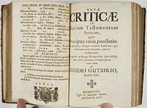 Novum Domini Nostri Jesu Christi Testamentum Syriacè: cum punctis vocalibus, & versione Latina ...
