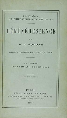 Dégénérescence: Nordau, Max