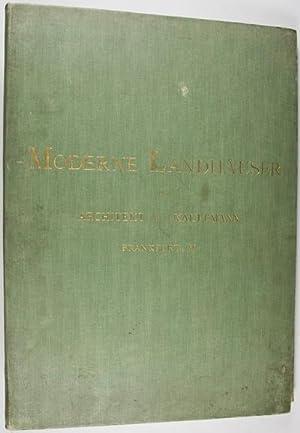 Moderne Landhäuser: Naturaufnahmen von Fassaden und Innenräumen mit Grundrissen von Architekt A. ...