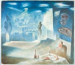 untitled painting (Sabbath Celebration): Geller, Todros