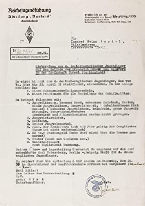 Collection of German-British Youth Exchange Documents: n/a