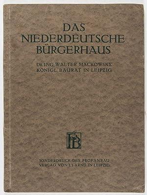 Das Niederdeutsche Bürgerhaus: Mackowsky, Walter