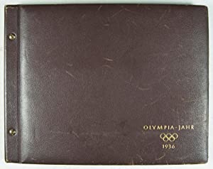 Olympia-Jahr 1936 (Photo-Album containing 216 photographs + 18 caption cards pertaining to the ...