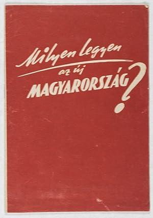 Milyen legyen az új Magyarország: Magyarorszagi Szociáldemokrata Párt, MSZDP (...