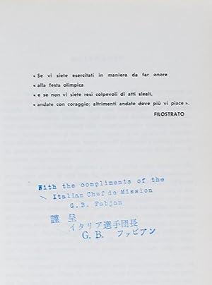 Squadra Italiana - Giochi della XVIII Olimpiade Tokyo, 1964: C.O.N.I. (Comitato Olimpico Nazionale ...