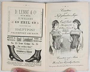 Erinnerung an den Frankfurter Hof in Frankfurt/Main. Gratis-Ausgabe 1884-1885: n/a