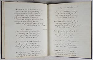 Original 19th-Century Manuscript Book of Poems: Moultrie, John; Henry Wadsworth Longfellow; ...