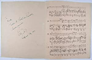 "Two-page Facsimile ""Wunderthema im Orchester"" [Inscribed and Signed by Eric Zeisl]: Zeisl..."