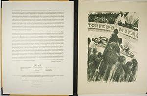 Arena. Neun Steinzeichnungen [SIGNED]. Personal copy of Hans Ossenbach: Finetti, Gino von
