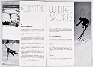 III Olympic Winter Games, Lake Placid New York February 4-13. 1932: n/a