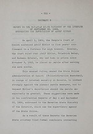 Nazi Subversive Organization, Past and Future [Blueprint for The Nazi Underground as Revealed in ...