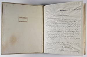 Twenty Photogravures Signed by Adolf Lazi with Original Manuscript Letter & various related ...