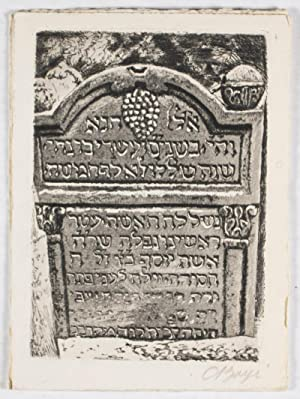 The old cemetery of the Jews at Prague [SIGNED]: Boyè, C.