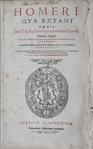 Homeri quae extant omnia : Ilias, Odyssea,: Spondani, Ioannis (Translated,